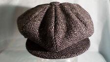 8 piece cap 100% wool Harris tweed newsboy baker boy gatsby cabbie from SCOTLAND
