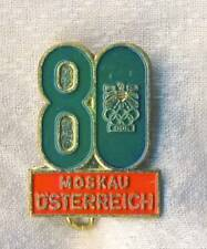 1980 MOSCOW Olympics AUSTRIA pin BADGE Olympic Games AUSTRIAN NOC