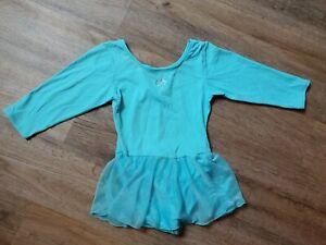 Girls Blue aqua Skirted Jacques Moret Leotard Ballet  Dance Size S 5/6 small EUC