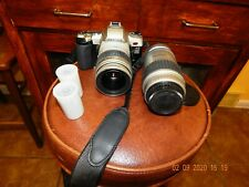 "VINTAGE"" Pentax MZ-L Film Camera "" Pentax 28-90 Lens & Pentax 100-300 Lens"" RARE"