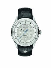 Roamer Superior Silver Dial  Black Leather Mens Watch 508293 41 15 05  RRP £379
