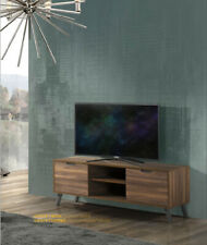 Mobile base porta TV con 2 ante in legno color noce L.154