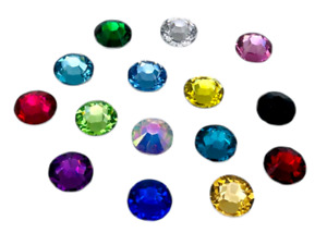 Mix Colours Crystals, EIMASS® Resin Non HotFix Rhinestones, Flat Back Gems
