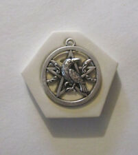 "Raven Moon pentagram Hard Polymer Clay Mold DIY Jewelry Pendant Size 1-1/8"""