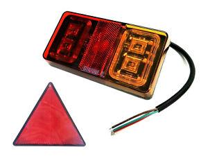 3 Funktionen 16 LED Rückleuchte 149x79x21 E9 für LKW PKW Anhänger mit Dreieck