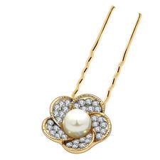 Oro Bianco Perla Matrimonio Fiore Per Capelli Spilli Accessori Decorazione Testa ha223
