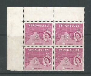 Seychelles, 1954 18c Lake Block Of 4 With Selvedge  SG 178 Unmounted Mint