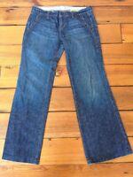 Gap 1969 Limited Edition Dark Wash Straight Wide Leg Womens Jeans 6A