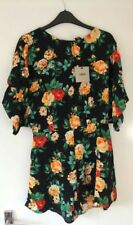 Womens holiday Playsuit jumpsuit kimono sleeves vintage floral by ASOS 10 Bnwt