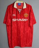VINTAGE MANCHESTER UNITED 1992-1994 HOME FOOTBALL SHIRT UMBRO #7 CANTONA JERSEY