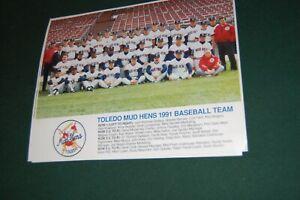 TOLEDO OHIO MUD HENS  1991    8X10    TEAM PHOTO  BASEBALL USA