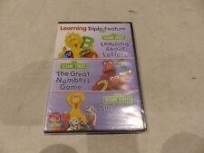 SESAME STREET LEARNING TRIPLE FEATURE DVD SET NEW