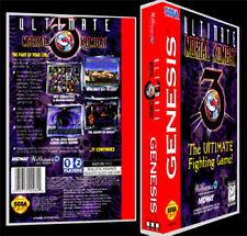Ultimate Mortal Kombat 3 - Sega Genesis Reproduction Art Case/Box No Game