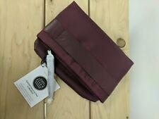 3 Maroon Jill-E iPad Clutchlet Sleeves; Leather & Nylon; Purple Pattern Interior