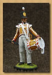 Tin soldier Napoleonic Wars(54 mm,1/32) NAP 90 Drummer of the 27th Inniskilling