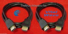 2X 9' ft HDMI Cable M-M 1080P 4K Ultra HDTV BLURAY DVD XBOX PS3 Wire Cord VWLTW