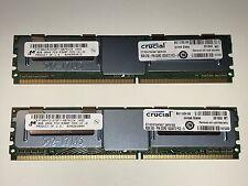 16GB (2x8GB) Crucial Memory, DDR2 PC2-5300, 240-pin DIMM