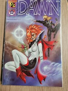Dawn #1/2 VF 1996 Sirius Comic Wizard Certificate of Authenticity