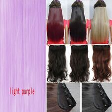 100% Real Thick Clip In Hair Extensions Long Curly Full Head Hair Extention PR5