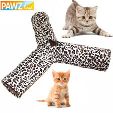 Pet Cat Tunnel Toys Cat play 3 Way Fun Tunnel Pawz road Print Crinkly pet tunnel