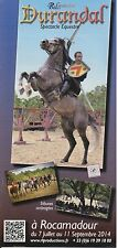 DURANDAL SPECTACLE EQUESTRE ROCAMADOUR - FLYER / TRACT PUBLICITAIRE - TBE