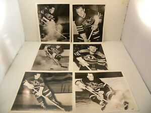 Lot of 1940s Chicago Blackhawks Photos (Bentley Mariucci Mosienko Autographed)