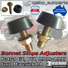 2 x Bonnet Bump Bumper Rubber Stop suit Nissan Patrol GQ Y60 Ford Maverick 88-97