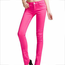 Women Lady Slim Fit Pencil Skinny Leg Pants Casual Stretch Jeans Trousers S-4XL