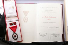 Hungary Hungarian Order of Labor Work Bronze III Box Mini Doc Lot Medal Soviet