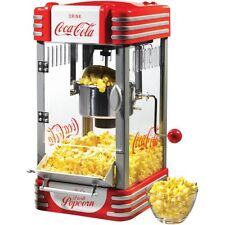 CocaCola Style 8 Cup Countertop Popcorn Machine, Home Coke Kettle Pop Corn Maker
