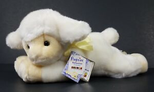 NWT Aurora Flopsies Lambert white lamb plush stuffed animal nursey baby toy RARE