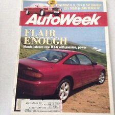 AutoWeek Magazine Mazda New MX-6 Continental R April 20, 1992 061417nonrh