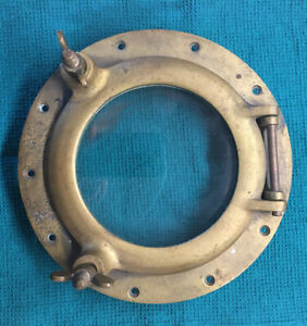 Vintage Used Brass/Bronze Porthole Window