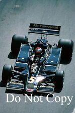 Mario Andretti JPS Lotus 78 Monaco Grand Prix 1978 Photograph 1