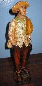 GIMENEZ pottery MAN SMOKING CIGARETTE statue figurine Brazil signed Tlaquepaque