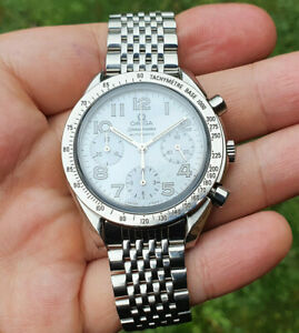 Omega Speedmaster Reduced Automatic 39mm MOP Mother of Pearl Dial Box Papers