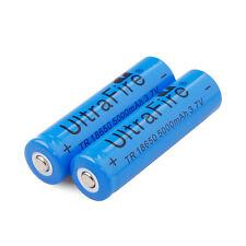 2Pcs 3.7V 18650 5000mAh 18650 Li-ion Rechargeable Batteries For LED Flashlight
