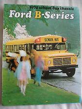 Ford USA Folleto de chasis de serie B Autobús Escolar 1972