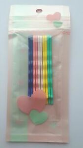 10 x  Assorted Mixed Colour Bobby Pins Hair Accessories girl 60 x 2 x 4 mm UK