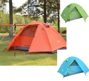 3 Person Camping Tent Lightweight Waterproof Double Layer Portable Summer Hiking