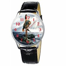 Girl With Big Fish Stainless Wrist Watch Wristwatches