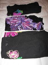 EUC LOT 3 BLACK DRESSY TOP SHIRT BLOUSE STUD BLING LADIES PLUS SIZE 3X 5X 30/32W