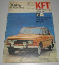KFT Kraftfahrzeug Technik Fahrbericht Trabant 601 Wartburg 353 VEB Oktober 1971!