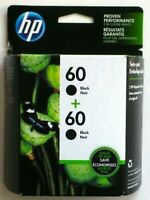 HP 60 Black Ink Cartridges 2 Pack CZ071FN - EXP 03/2021