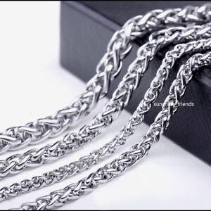 2,5mm / 3mm Byzantiner Kette Massiv Edelstahl Damen Herren Halskette 45 - 90 cm