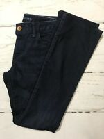 Banana Republic Jeans Dark Skinny Straight Women's Size 27 Stretch 5 Pockets
