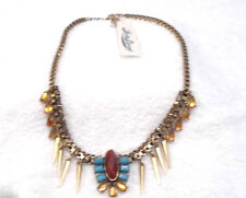 Lucky Brand Multi Color /Gold Design Necklace