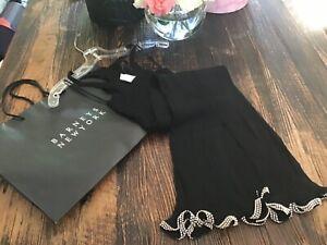 NWT $795 Alexander Wang Women's Black Dress Stretchy Tank Knit Swarovski Crystal