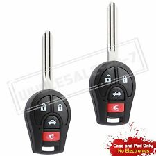 2 Replacement For 2012 2013 2014 2015 2016 Nissan Sentra Key Remote Entry Case