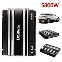 5800W Audio Stereo Power Amplifier 4-Channel Bass Subwoofer Car Home